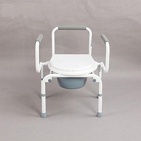 New day-anziani Generico sedia disabili e pieghevole con schienale di una sedia in lega di alluminio per la donna incinta e una sedia con la sedia WC sit