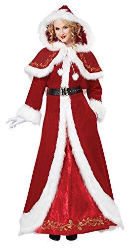 Mrs Deluxe Kostüm Claus - Deluxe Classic Mrs. Claus Fancy dress costume X-Large