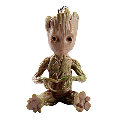 Baby Groot Schlüsselanhänger - Marvel Action-Figur aus Guardians of The Galaxy I AM Groot (Herz)