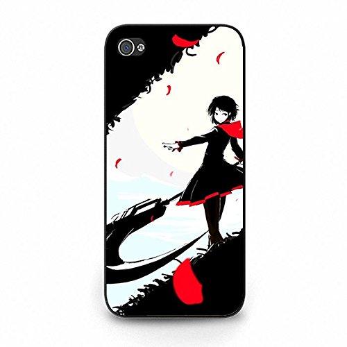 Coque iphone 5C Phone Case RWBY Noir Theme Red Girl Unique Design Cover,Cas De Téléphone