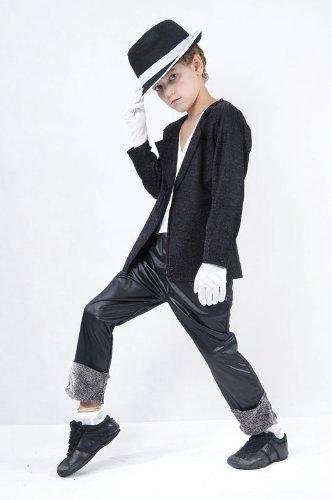 Superstar. Black Jacket/Trousers (L) costume Kids Fancy ()