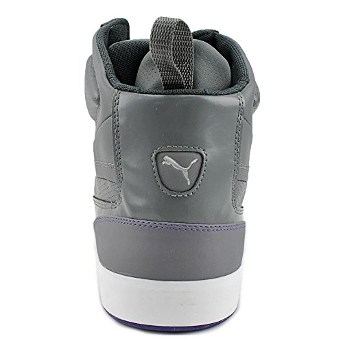 Puma Suburb Mid Cuir Baskets Grey-Blue-White-Shadow
