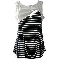 Camisón de Maternidad - Top premamá Mujer,ZARLLE Top de Maternidad Embarazada, Algodón de Las Mujeres Acanalada Camisa de Maternidad de Verano
