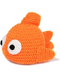 JTC Bébé Vêtement Bonnet Beanie Photographique en Velours en Forme Poisson main-crochet-Orange