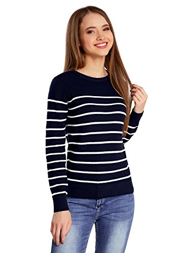 oodji Ultra Women's Striped Cotton Pullover