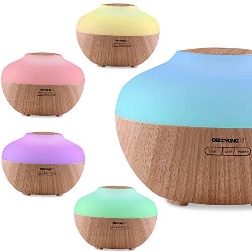 DecoKing 43202 Duftöldiffusor 300 ml Aroma Diffuser Timer Luftbefeuchter Lufterfrischer Vernebler Raumbefeuchter Elektrische Duftlampe Diffusor Duftöldiffusor Aromatherapie Bao