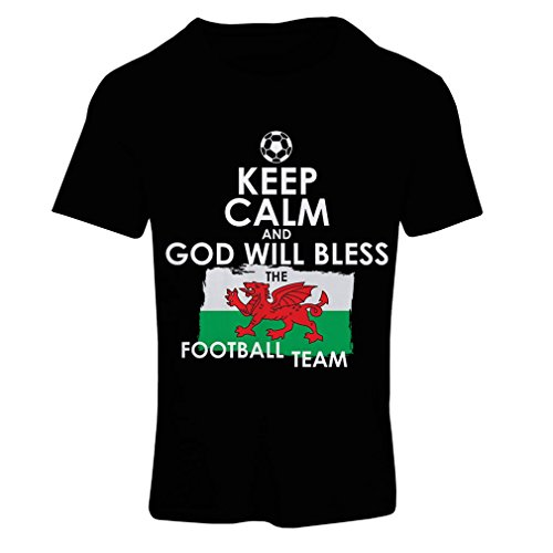 T shirts for women Keep Calm and God will Bless the Football team of Wales