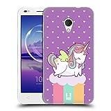 Head Case Designs Regenbogen Phantastische Einhörner 2 Chubby Soft Gel Hülle für Alcatel U5 HD