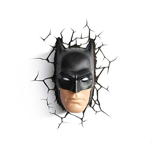 DC Comics Batman Maske Wandlampe 3D Light FX LED Kinderlampe -Nachtlicht für kinder mit automatische Abschaltung und wandaufkleber
