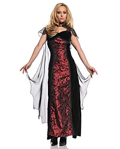 Horror-Shop Schwarz-rotes Vampir Fee Damenkostüm für Halloween S (Vampir Opfer Kostüm)