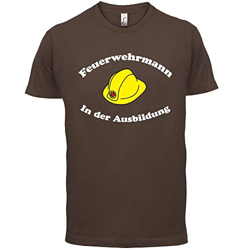 Feuerwehrmann in der Ausbildung - Herren T-Shirt - 13 Farben Schokobraun