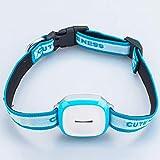 CTAO Tractive GPS Peilsender Der Sender Fürs Halsband, Wasserdichter Mini Tracker Für Hunde Und Katzen Material ABS,Blue