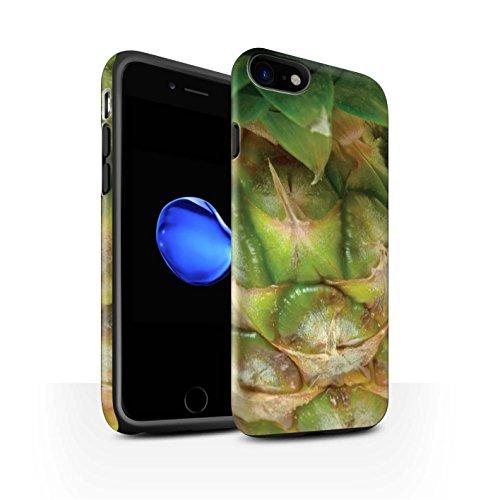 STUFF4 Matte Harten Stoßfest Hülle / Case für Apple iPhone 8 / Kiwi Muster / Obst Kollektion Ananas