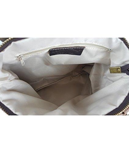 VERA PELLE - Made in Italy, Borsa a mano donna Beige beige Beige (Blau - L)