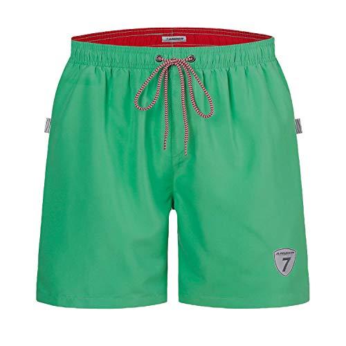 anqier Badehose für Herren Jungen Badeshorts für Männer Schnelltrocknend Surfen Strandhose Schwimmhose Strand Shorts mit Mash-Innenfutter (Smaragd, XXL)