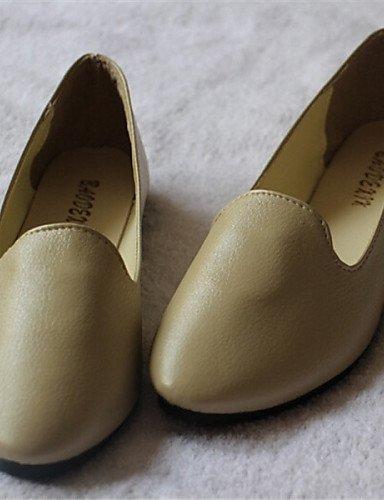 ZQ punta aguzza pattini piani delle donne di colore casuale; marrone / rosso / beige / nero / bianco , beige-us5.5 / eu36 / uk3.5 / cn35 , beige-us5.5 / eu36 / uk3.5 / cn35 brown-us8 / eu39 / uk6 / cn39