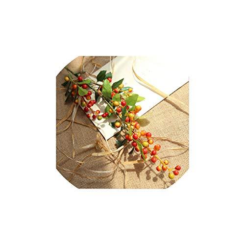 Tiamo Violet Künstliche Obst Artificial AST Beere Obst Fälschungs-Schaum-Blumen Beeren Pflanze Herbst Home Garten Dekoration, Grau