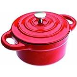 Ibili 725910 -R Mini Cocotte redonda color rojo 10x4,5 cm