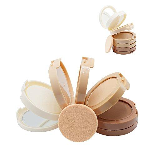 VONISA Contouring Crème Poudre Palette Correcteur Anti Cernes 5 Teintes Ombre Contour Bronzage Ensembles Kit et Maquillage Brosse Light to Medium Compacte Cosmétique Contours et Visage