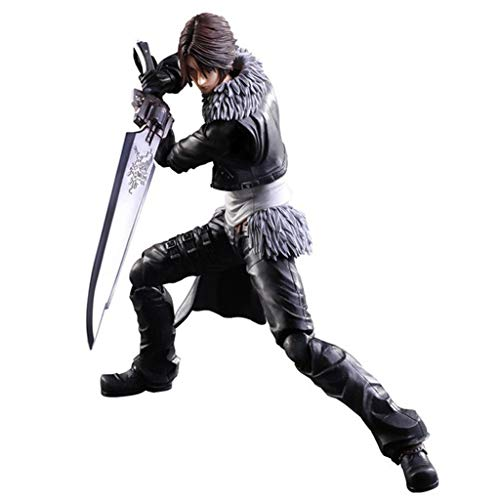 Siyushop Dissidia Final Fantasy Play Arts Kai: Squall Leonhart Action Figure - Equipped with Weapons and Replaceable Hands - High 28CM