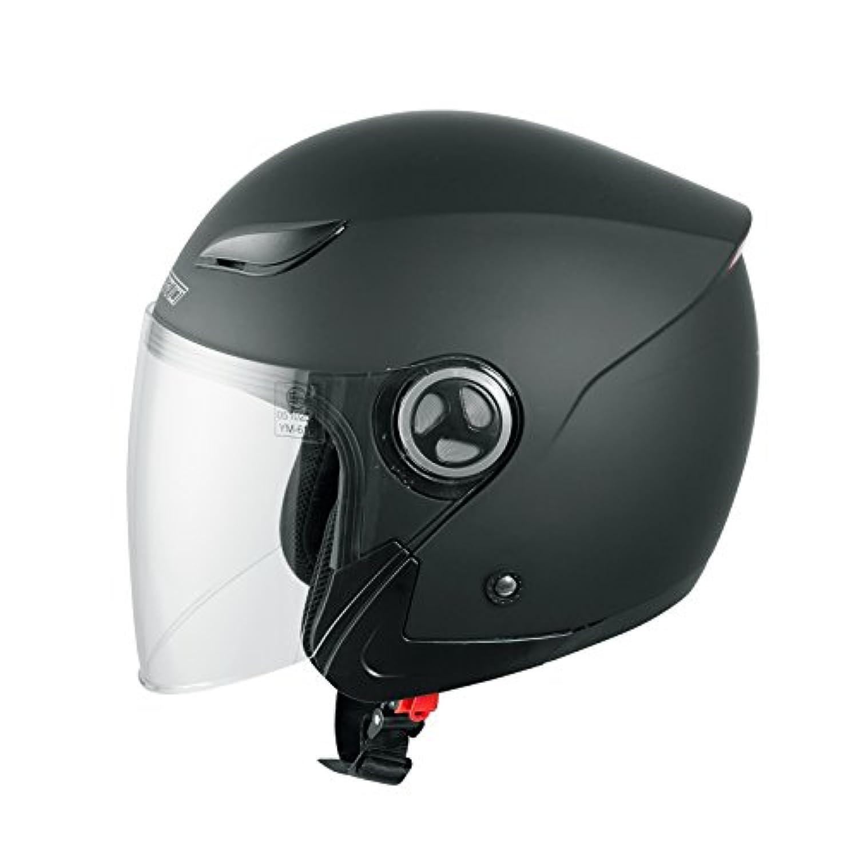 Casque avec Moto Scooter Quad Jet Visiere ECE 22 Noir M