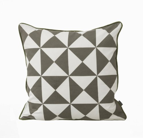 Large Geometry Cushion - Grey