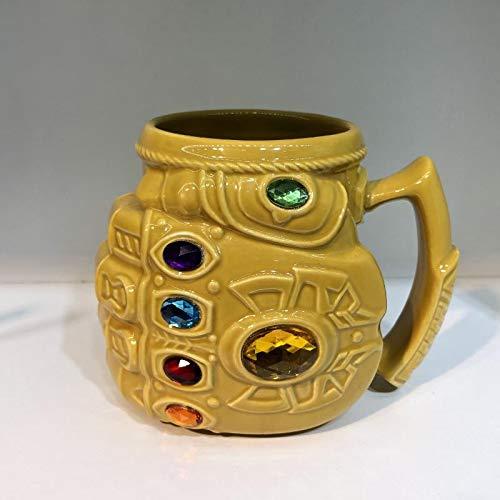 Neues Avengers Endspiel Marvel Thanos Cosplay Props Gloves Coffee Mugs Ceramics Cups Infinity Gauntlet Gem Mark Cartoon Drinkware