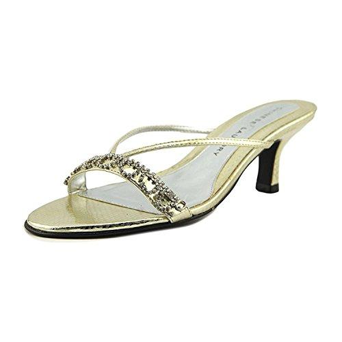 Chinese Laundry Frauen Jello Offener Zeh Leger T-Strap Sandalen Gold Groesse 5 US/35.5 EU Chinese Laundry Ballerinas