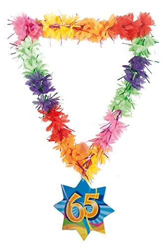 CREATIVE Deko Hawaii Lei Lametta Happy 65. - Geburtstags Kostüm Partei Ideen