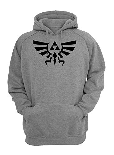 Shut Up Legend of Zelda Hyrule Crest Triforce Unisex Kapuzenpullover Large