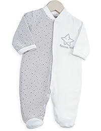 Kinousses Bonne Nuit Grenouillères Pyjama pour Bébé Blanc