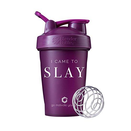Ich kam zu SLAY Klauenhammer, oder Klauenhammer Blender Bottle Shaker Cup, Motivation auf der Best Protein Shaker Flasche, Plum - 20 oz. - Flasche 20 Mixer Oz