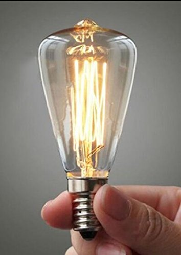 Y&M C35 ziehen den Schwanz Glühbirne, Jahrgang Kronleuchter, Seide Kohlefaden-Glühlampe, antike E14 Kerze , 2 -