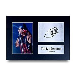 HWC Trading Till Lindemann A4 Ungerahmt Signiert Gedruckt Autogramme Bild Druck-Fotoanzeige Geschenk Für Rammstein Musik…