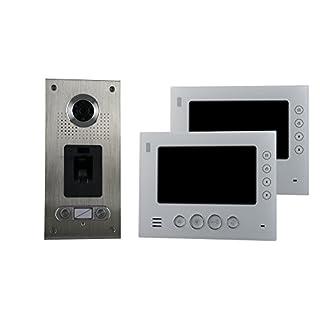 AE CKZ2-812S1-02 2 Fam. Fingerprint Colour Video Intercom Set 2 Pack