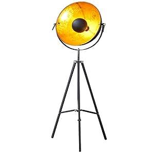 moderne design stehlampe studio schwarz gold lampe blattgold k che haushalt. Black Bedroom Furniture Sets. Home Design Ideas