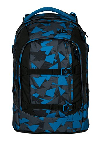 Satch Pack by Ergobag - 2tlg. Set Schulrucksack (+SchlamperBox Etui) - Blue Triangle