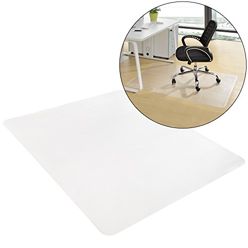 [neu.haus]® Bodenschutzmatte (90 x 120 cm)(semitransparent) für Hartböden aller Art/Stuhlmatte/Kratzschutz/Bodenschutz