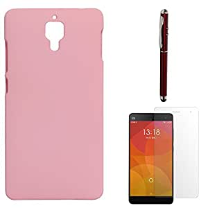 DMG Protective Hard Back Cover Case For Xiaomi Mi4 (Pink) + Laser Torch Stylus Pen + Matte Screen