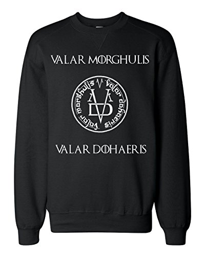 Valar Morghulis Dohaeris Symbol Art Classic Sweatshirt Medium