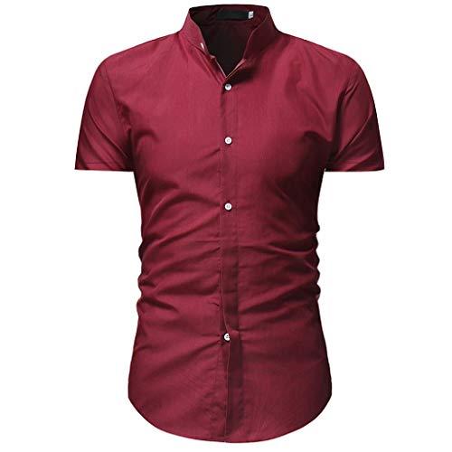 CICIYONER Herren Hemd Kurzarm Slim Fit Bambusfaser für Anzug/Business/Hochzeit/Freizeit,Hemden Shirts für Männer, Weiß/Blau/Rot/Schwarz/M/L/XL/2XL/3XL
