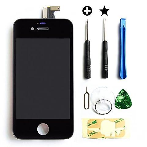 Schwarz LCD Display Digitizer Touchscreen Ersatz Bildschirm mit Frontglas für Apple Iphone 4S +