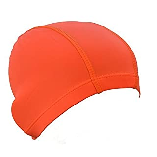 Children's Lycra Swimming Caps (Orange)