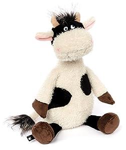 Sigikid ACH Goood! Vaca Felpa, Poliéster Negro, Blanco - Juguetes de Peluche (Vaca, Negro, Blanco, Felpa, Poliéster, 1 año(s), Vaca, 8 año(s))