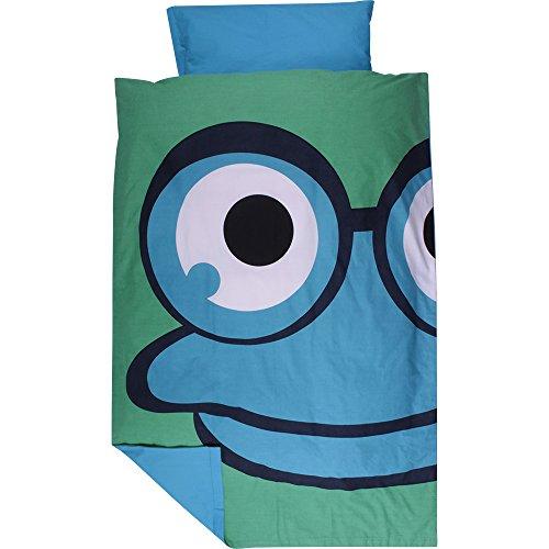 Green Cotton Baby Bettwäsche Frog Frosch 40 x 60 100 x 135 blau - Baby-bettwäsche-sets Frösche