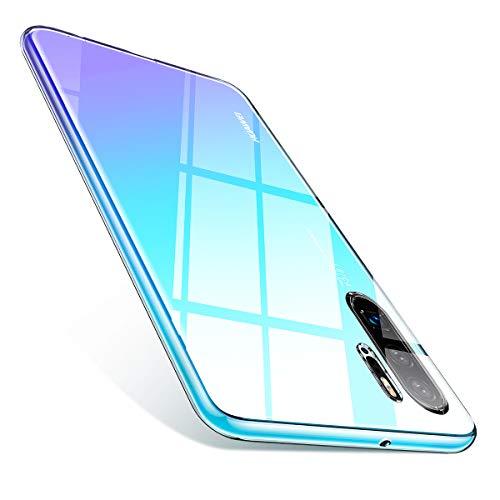AINOPE Kompatibles Huawei P30 Pro hülle, Transparent [Anti-Gelb] Schmales Gehäuse für Huawei P30pro [Anti-Fleck] [Weiches TPU] [Kratzfest] mit Display und Kameraschutz P30 PRO Cover 6,47 in (2019)