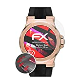 atFoliX Schutzfolie passend für Michael Kors Access Dylan 46 mm Folie, entspiegelnde & Flexible FX Bildschirmschutzfolie (3X)