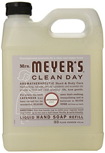 Aromatherapeutic Hand Care, Liquid Hand Soap Refill, Lavender, 33 fl oz by Mrs. Meyer's Clean Day