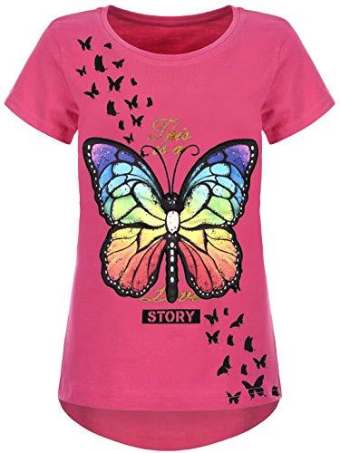 Kmisso Mädchen T-Shirt LED Licht Effekt 30035 Pink 158