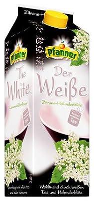 Pfanner Der Weiße Zitrone-Holunderblüte, Weißer Tee, Tetra - 2L - 4x von Pfanner - Gewürze Shop